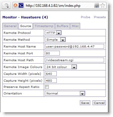 06-wansview-zoneminder-konfiguration