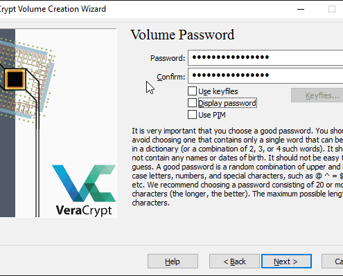 Komplette USB-Festplatte mit VeraCrypt verschlüsseln